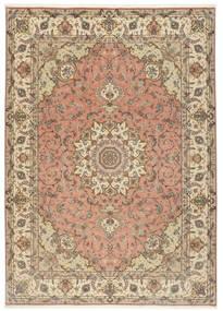 Tabriz 50 Raj Rug 250X348 Authentic  Oriental Handknotted Light Brown/Beige Large (Wool/Silk, Persia/Iran)