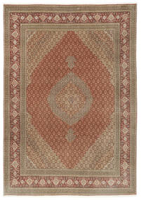 Tabriz 50 Raj Rug 250X355 Authentic  Oriental Handknotted Brown/Light Brown Large (Wool/Silk, Persia/Iran)