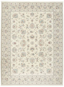 Tabriz 50 Raj With Silk Rug 255X345 Authentic  Oriental Handknotted Light Grey/Beige Large (Wool/Silk, Persia/Iran)