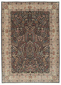 Kerman Lavar Rug 250X348 Authentic  Oriental Handknotted Light Grey/Black Large (Wool/Silk, Persia/Iran)