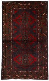 Baluch Rug 118X190 Authentic  Oriental Handknotted Dark Brown/Dark Red (Wool, Afghanistan)