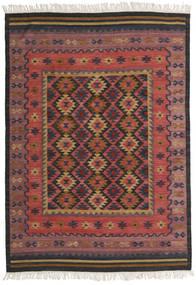 Kilim Marmaris Rug 160X230 Authentic  Modern Handwoven Dark Red/Black (Wool, India)