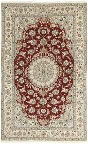 Nain 9La Rug 154X253 Authentic  Oriental Handknotted Light Grey/Beige (Wool/Silk, Persia/Iran)
