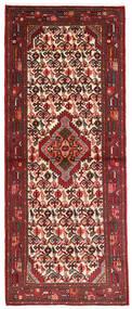 Hamadan Rug 77X190 Authentic Oriental Handknotted Hallway Runner Dark Brown/Dark Red (Wool, Persia/Iran)