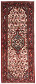 Hamadan Rug 78X195 Authentic Oriental Handknotted Hallway Runner Dark Brown/Dark Red (Wool, Persia/Iran)
