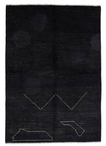 Moroccan Berber - Afghanistan Rug 163X235 Authentic  Modern Handknotted Black (Wool, Afghanistan)