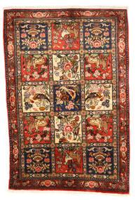 Bakhtiari Collectible Rug 102X154 Authentic  Oriental Handknotted Dark Brown/Crimson Red (Wool, Persia/Iran)