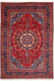 Mashad Rug 198X290 Authentic  Oriental Handknotted Dark Red/Dark Purple (Wool, Persia/Iran)