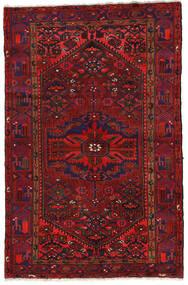 Zanjan Rug 140X213 Authentic  Oriental Handknotted Dark Red/Black (Wool, Persia/Iran)