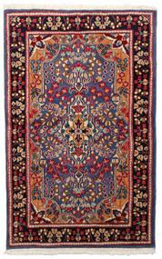 Kerman Rug 91X148 Authentic Oriental Handknotted Dark Red/Black (Wool, Persia/Iran)