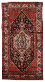 Zanjan Rug 133X250 Authentic  Oriental Handknotted Dark Red/Dark Brown (Wool, Persia/Iran)