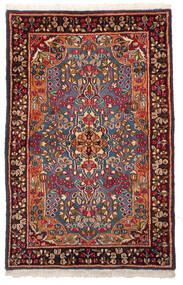 Kerman Rug 96X148 Authentic  Oriental Handknotted Dark Red/Dark Brown (Wool, Persia/Iran)