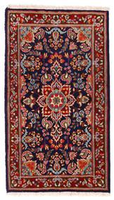 Kerman Rug 91X162 Authentic  Oriental Handknotted Dark Red/Dark Purple (Wool, Persia/Iran)