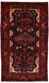 Nahavand Rug 163X270 Authentic  Oriental Handknotted Dark Red (Wool, Persia/Iran)