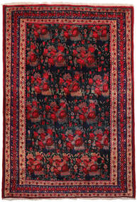 Afshar Rug 157X228 Authentic  Oriental Handknotted Dark Red/Dark Blue (Wool, Persia/Iran)