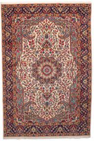 Kerman Rug 201X301 Authentic Oriental Handknotted Dark Red/Beige (Wool, Persia/Iran)
