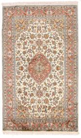 Kashmir Pure Silk Rug 95X158 Authentic Oriental Handknotted Dark Brown/Light Grey (Silk, India)