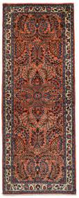 Sarouk Rug 72X190 Authentic Oriental Handknotted Hallway Runner Dark Red/Black (Wool, Persia/Iran)
