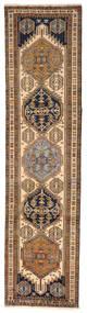 Ardebil Rug 82X315 Authentic  Oriental Handknotted Hallway Runner  Brown/Dark Brown (Wool, Persia/Iran)