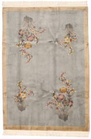 China 90 Line Rug 198X289 Authentic  Oriental Handknotted Light Grey/Beige (Wool, China)