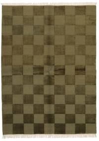 Gabbeh Indo Rug 172X235 Authentic  Modern Handknotted Olive Green/Dark Green (Wool, India)
