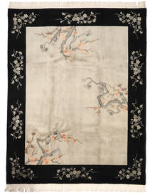 China 90 Line Rug 244X305 Authentic  Oriental Handknotted Beige/Black/Light Grey (Wool, China)
