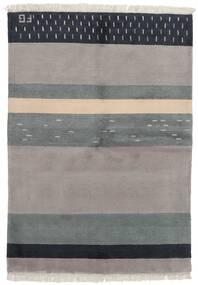 Gabbeh Indo Rug 141X197 Authentic  Modern Handknotted Light Grey/Dark Grey (Wool, India)