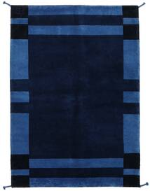 Gabbeh Indo Rug 141X201 Authentic  Modern Handknotted Dark Blue (Wool, India)