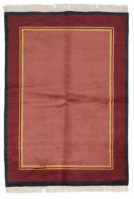 Gabbeh Indo Rug 137X196 Authentic  Modern Handknotted Crimson Red/Dark Red (Wool, India)
