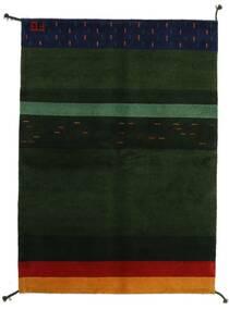 Gabbeh Indo Rug 144X200 Authentic  Modern Handknotted Dark Green (Wool, India)