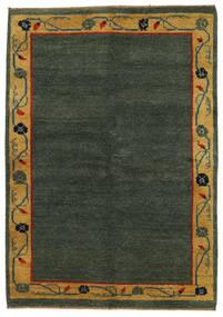 Gabbeh Indo Rug 143X186 Authentic  Modern Handknotted Dark Green/Brown (Wool, India)