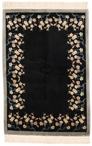 China 90 Line Rug 137X198 Authentic  Oriental Handknotted Black/Light Grey (Wool, China)