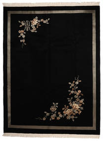 China 90 Line Rug 274X366 Authentic  Oriental Handknotted Black Large (Wool, China)