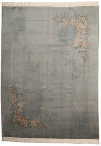 China 90 Line Rug 274X366 Authentic  Oriental Handknotted Light Grey/Dark Grey Large (Wool, China)