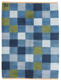 Gabbeh Indo Rug 146X192 Authentic  Modern Handknotted Blue/Light Blue (Wool, India)