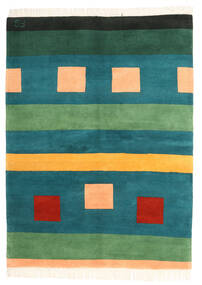 Gabbeh Indo Rug 172X233 Authentic  Modern Handknotted Dark Turquoise  /Dark Green (Wool, India)