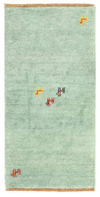 Gabbeh Indo Rug 60X122 Authentic  Modern Handknotted Pastel Green/White/Creme (Wool, India)