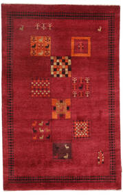 Gabbeh Loribaft Rug 120X190 Authentic  Modern Handknotted Crimson Red/Dark Red (Wool, India)
