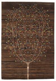 Gabbeh Loribaft Rug 166X242 Authentic  Modern Handknotted Dark Brown/Brown (Wool, India)