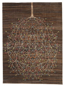 Gabbeh Loribaft Rug 170X227 Authentic  Modern Handknotted Dark Brown/Brown (Wool, India)