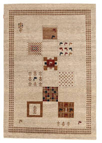 Gabbeh Loribaft Rug 151X220 Authentic  Modern Handknotted Yellow/Light Brown (Wool, India)