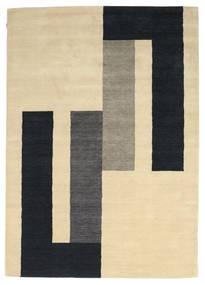 Loribaf Loom Rug 170X241 Authentic  Modern Handknotted Beige/Black (Wool, India)