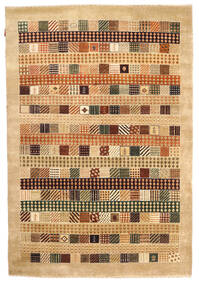 Gabbeh Loribaft Rug 150X222 Authentic  Modern Handknotted Yellow/Beige (Wool, India)
