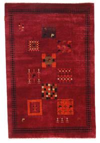 Gabbeh Loribaft Rug 115X175 Authentic  Modern Handknotted Dark Red/Crimson Red (Wool, India)