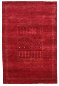 Gabbeh Loribaft Rug 150X226 Authentic  Modern Handknotted Crimson Red (Wool, India)