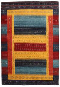 Gabbeh Loribaft Rug 168X240 Authentic  Modern Handknotted Dark Blue/Yellow (Wool, India)