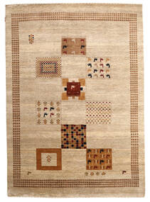 Gabbeh Loribaft Rug 195X275 Authentic  Modern Handknotted Beige/Dark Beige (Wool, India)