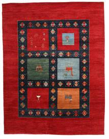 Gabbeh Loribaft Rug 198X258 Authentic  Modern Handknotted Rust Red/Dark Blue (Wool, India)