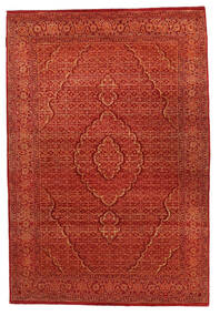 Gabbeh Loribaft Rug 125X183 Authentic  Modern Handknotted Rust Red (Wool, India)