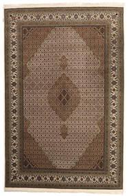 Tabriz Royal Rug 202X308 Authentic  Oriental Handknotted Dark Brown/Brown ( India)